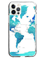 cheap -Map Case For Apple iPhone 12 iPhone 11 iPhone 12 Pro Max Unique Design Protective Case and Screen Protector Shockproof Back Cover TPU