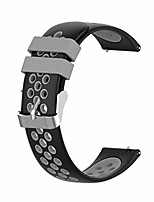 cheap -compatible for huami amazfit bip youth watch band replacement - silicone soft wristband straps quick release watch bands for men women - black and grey