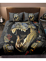 cheap -3D Dinosaur Print 3-Piece Duvet Cover Set Hotel Bedding Sets Comforter Cover with Soft Lightweight Microfiber(Include 1 Duvet Cover and 1or 2 Pillowcases)