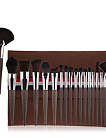 cheap -18PC New Style Make-Up Brush 18 Pieces Of Artificial Fiber Coffee Grounds Wood Grain Beginner's Makeup Brush