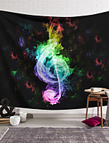cheap -Wall Tapestry Art Decor Blanket Curtain Hanging Home Bedroom Living Room Decoration Polyester Fiber Color Flame Music Note Lanting Design