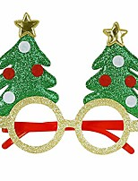 cheap -christmas glitter party glasses christmas decoration costume eyeglasses party glasses frame for holiday favors, assorted styles