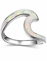 cheap -minimalism 925 sterling silver wave ring for women and girls daily wear