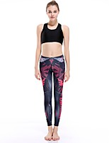 cheap -Women's Casual Yoga Comfort Daily Gym Leggings Pants Print Multi Color Patterned Ankle-Length Print Black