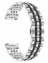cheap -compatible for samsung galaxy watch (46mm) bands for gear s3 frontier, 22mm stainless steel metal strap replacement wristband for huawei gt smart watch band