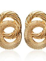 cheap -Women's Stud Earrings Earrings Geometrical Fashion Statement Fashion Classic Punk Trendy Earrings Jewelry Gold For Street Gift Date Vacation Festival 1 Pair