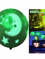 """cheap -10pc 12"""" halloween latex punch balloons for kids halloween punching balloon party favor supplies decorations glow in the dark luminous balloons trick or treat toys (moon)"""