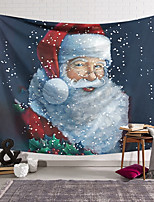 cheap -Christmas Santa Claus Holiday Party Wall Tapestry Art Decor Blanket Curtain Hanging Home Bedroom Living Room Decoration Polyester Fiber Modern Painted Santa Snow