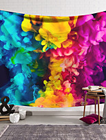 cheap -Wall Tapestry Art Decor Blanket Curtain Hanging Home Bedroom Living Room Decoration Polyester Fiber Color Smoke