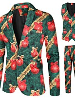 cheap -Tuxedos Tailored Fit Notch Single Breasted One-button Polyster / Polyester Cartoon / Christmas