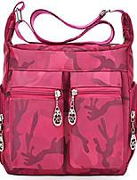 cheap -lightweight nylon multi pocket hobo shoulder crossbody bag handbags and purses for women men top-handle messenger crossbody bag pack totes satchels rose camouflage