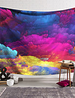 cheap -Wall Tapestry Art Deco Blanket Curtain Hanging Home Bedroom Living Room Dormitory Decoration Polyester Fiber Painted Cloud Layer