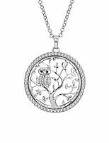 cheap -tree of life necklace for women men silver with crystal jewelry owl pendant