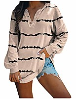 cheap -womens pullover tops, casual long sleeve tie dyed striped print crewneck sweatshirt lightweight comfy tunic tops blouses