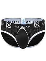 cheap -Men's 1 Piece Basic Briefs Underwear - Normal Low Waist White Black Blue S M L