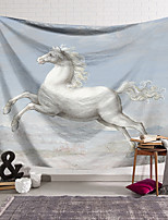 cheap -Oil Painting Style Wall Tapestry Art Decor Blanket Curtain Hanging Home Bedroom Living Room Decoration Horse Animal