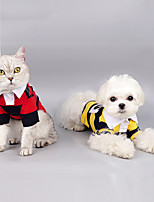 cheap -Dog Cat Shirt / T-Shirt Vest Plaid Basic British Casual / Daily Dog Clothes Puppy Clothes Dog Outfits Breathable Yellow Red Green Costume for Girl and Boy Dog Cotton S M L XL XXL