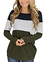 cheap -womens shirts long sleeve loose fit crew neck comfy contrast tops (xl, olive)