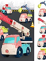 cheap -1pcs children assembly diy cartoon detachable engineering vehicle educational toy play vehicles