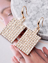 cheap -Women's Drop Earrings Earrings Geometrical Fashion Elegant Fashion Classic Trendy Cute Earrings Jewelry Red / Gold For Party Evening Street Date Vacation Festival 1 Pair