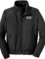 cheap -csi, economy, reflective logo, charger jacket black