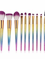 cheap -eco-friendly 10pcs soft makeup brushes set cosmetic foundation powder blend eye shadow lash lip make up brush beauty tool kit from begining to end (color : 3d, size : one size)