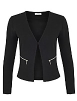 cheap -ladies blazers with pockets (382), color: black, costumes& blazer for women: 42 / xl