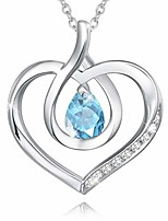 cheap -agvana march birthstone heart necklaces for women sterling silver aquamarine cz infinity love pendant necklace anniversary birthday christmas gifts fine jewelry for girls her wife mom daughter