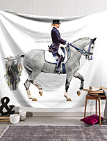 cheap -Oil Painting Style Wall Tapestry Art Decor Blanket Curtain Hanging Home Bedroom Living Room Decoration Horse Trainer