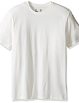 cheap -men's basic short sleeve premium tailored fit tee, off white, x-small