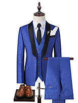 cheap -Tuxedos Tailored Fit Shawl Collar Single Breasted One-button Polyester Jacquard