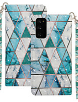 cheap -Case For Samsung Galaxy S20 Plus / S20 Ultra / S20 Shockproof Full Body Cases Tile / Geometric Pattern PU Leather / TPU
