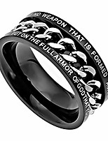 cheap -spinner chain band isaiah 54:17 armor of god, black stainless steel ring (8)