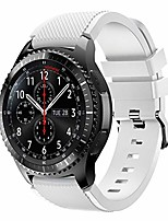 cheap -for samsung galaxy watch 46mm / samsung gear s3 frontier/classic/strap band silicone fitness bracelet replacement band (white)