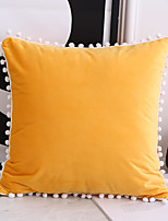 cheap -Netherlands Velvet Solid Colored Small hair ball Home Office Pillow Case Cover Living Room Bedroom Sofa Cushion Cover