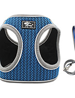 cheap -Dog Cat Harness Vest Adjustable Flexible Breathable Durable Outdoor Walking Color Block Polyester Corgi Pug Bichon Frise Schnauzer Poodle Chihuahua Black Red Blue Pink Gray 1pc