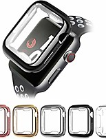 cheap -extfit apple watch case 38mm40mm 42mm 44mm, soft tpu ultra-slim lightweight bumper scratch resistant protective case cover (5pack)