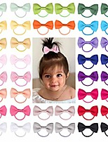 cheap -baby hair ties with bows 2 inch elastic ponytail holders hair ties for baby girls infants toddlers hair accessories