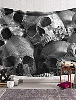 cheap -Wall Tapestry Art Decor Blanket Curtain Hanging Home Bedroom Living Room Decoration Polyester Fiber Novelty Still Life Black And White Gray Skull Skull