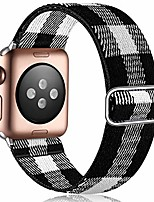 cheap -elastic band compatible with 40mm apple watch se series 6 5 4, breathable stretchy loop wristband for iwatch 38mm series 3 2 1 women men, black/white plaid