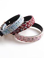 cheap -Dog Collar Adjustable Retractable Durable Outdoor Walking Classic Stars Nylon Medium Dog Red Blue Pink 1pc