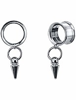 cheap -circle taper dangle tunnels and plugs for ear piercing surgical steel pendent screw ear gauge stretcher (gauge=00g(10mm))