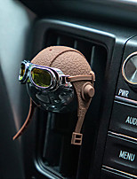 cheap -Creative Helmet Car Air Freshener Airborne Division Luxury Car Perfume Genuine Leather Strap Hanging Car Fragrance