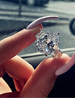 cheap -women's ring aaa cubic zirconia 1pc silver platinum plated alloy stylish daily jewelry cute