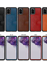 cheap -Leather Case For Samsung Galaxy S20 Plus S20 Ultra S20 S10 Shockproof Back Cover Solid Colored PU Leather / TPU / PC