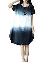 cheap -cotton & linen women shirt dress loose fit plus size long sleeve long tunic dress red