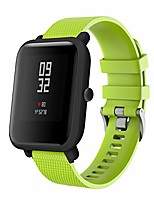 cheap -compatible with amazfit bip youth band, amazfit bip bands silicone strap replacement buckle strap wrist band for galaxy watch 42mm/40mm smartwatch