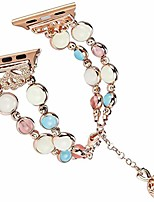 cheap -band compatible for apple watch series 6 se 5 4 3 2 1 40mm/44mm/38mm/42mm luminous natural agate adjustable bracelet for women girls crystal pearl replacement wristband(38mm 40mm-rose gold)