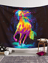 cheap -Wall Tapestry Art Decor Blanket Curtain Hanging Home Bedroom Living Room Decoration Polyester Running Horse