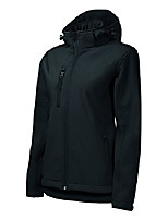 cheap -waist-fitted softshell jacket for women with removable hood – highly water-resistant (black – size: xl)